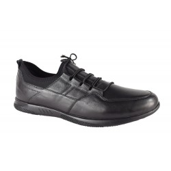 Pantofi Piele Naturala Colt Black