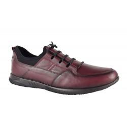 Pantofi Piele Naturala Colt Bordo