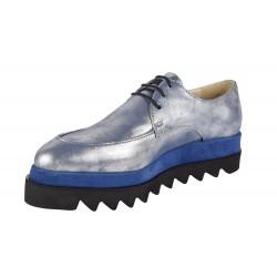 Pantofi Dama Casual Mavis Blue-Silver