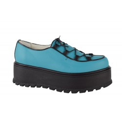 Pantofi Piele Naturala Marina Blu Turcoaz