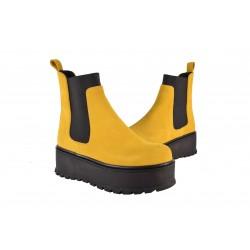 Ghete Piele Naturala Eros Cam Yellow