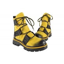 Ghete Piele Naturala Republic Yellow
