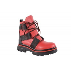Ghete Piele Naturala Republic Red
