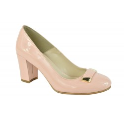Pantofi Piele Naturala Alena D Roze Lacuit