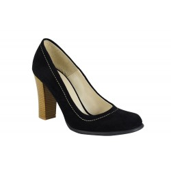 Pantofi Piele Naturala Gosia Negri Cam