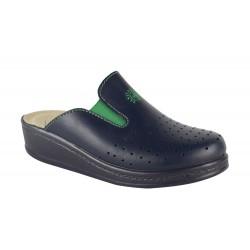 Papuci Medicinali Piele Naturala DS1352 Blu Green