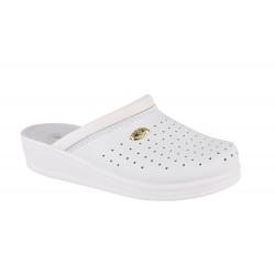 Papuci Medicinali Piele Naturala DS1350 White