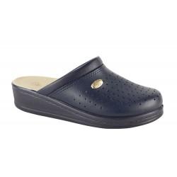 Papuci Medicinali Piele Naturala DS1350 Blu