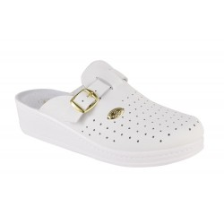 Papuci Medicinali Piele Naturala DS1372 White