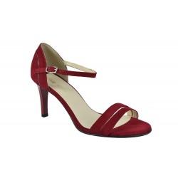 Sandale Piele Naturala Anya Bordo