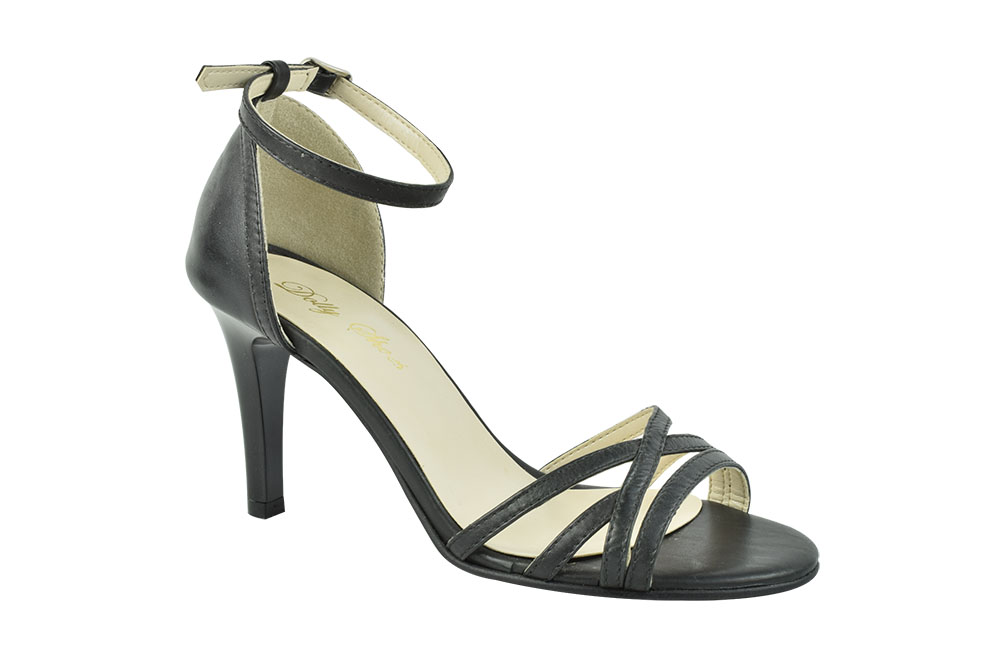 Sandale Piele Naturala Angelina Negre