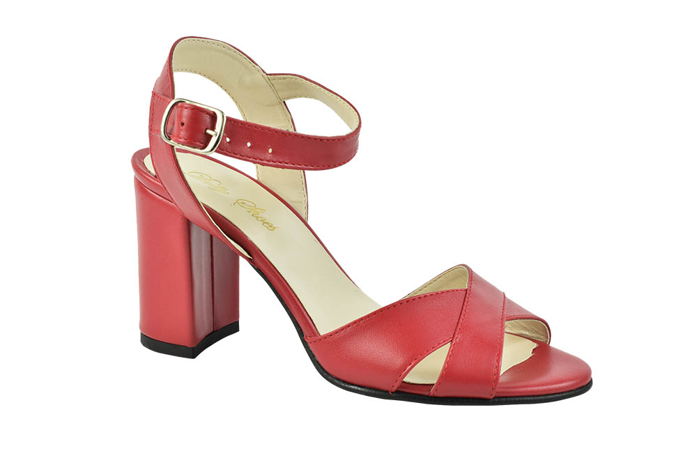 Sandale Piele Naturala Alicia Rosii