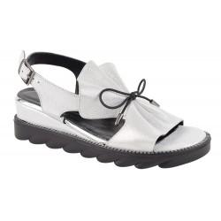 Sandale Piele Naturala Eleonora White Sidef