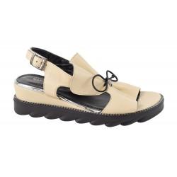 Sandale Piele Naturala Eleonora Bej