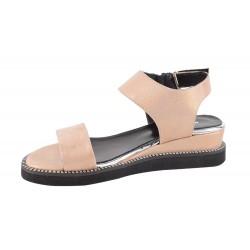 Sandale Piele Naturala Aurora Nude Sidef