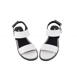 Sandale Piele Naturala Aurora Alb