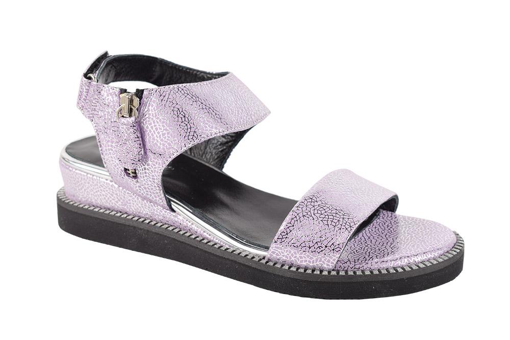 Sandale Piele Naturala Aurora Lila Sidef
