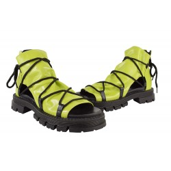 Sandale Piele Naturala Kara Green Neon