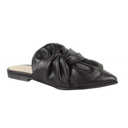Papuci Piele Naturala Nola Blk
