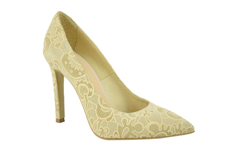 Pantofi Elisa Crem